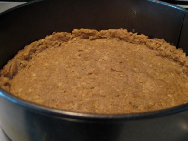 Walnut oat cheesecake crust