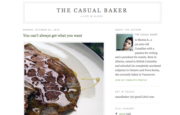 Casual Baker food blog
