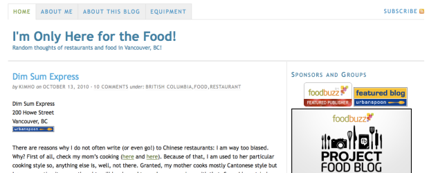I'm Only Here For the Food - food blog