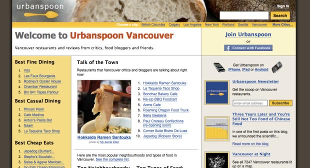 UrbanSpoon Vancouver