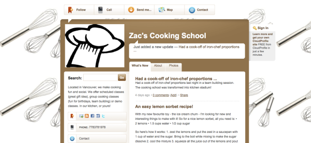 Zacs Cooking School