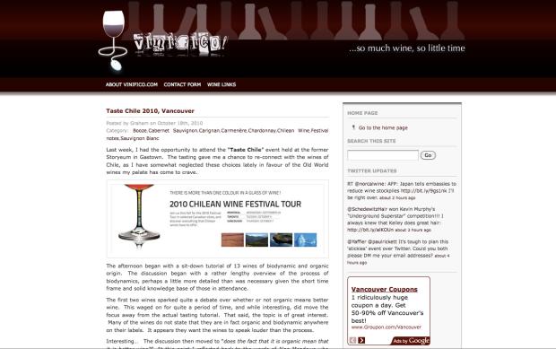 Vinifico - Vancouver Wine Blog