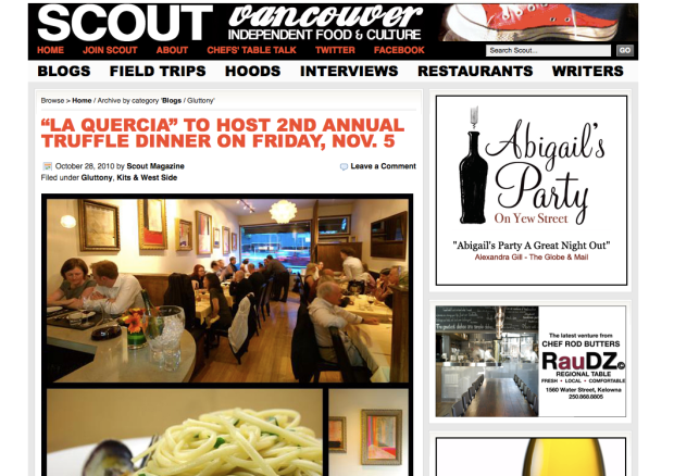 Scout Magazine: Gluttony Blog