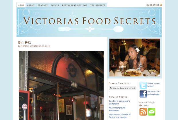 Victoria's Food Secrets