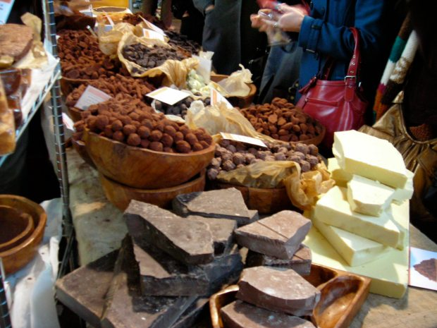 A chocolatier in Borough Market, South London.
