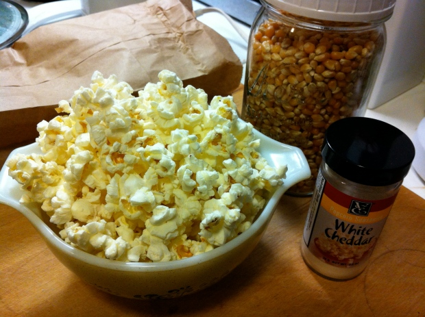 Oscar Moment Popcorn! Voila! Ready in 2:00 minutes or one commercial break!
