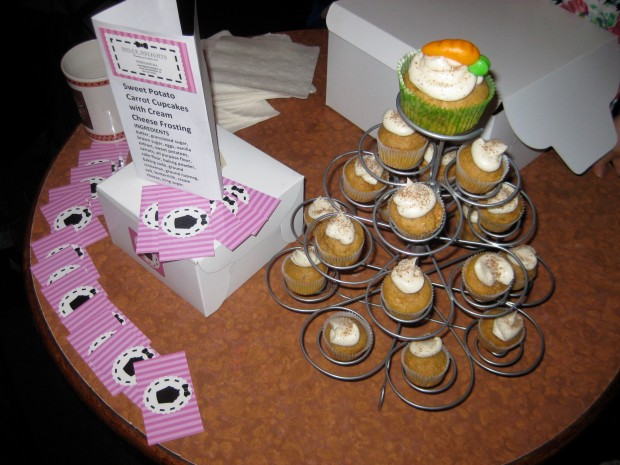 Third place winner - sweet potato carrot cupcakes!!!