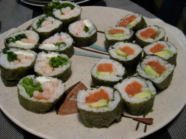 Homemade sushi can be so colourful!