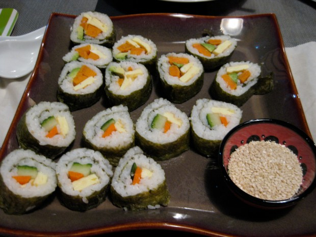 Make your own veggie rolls too!