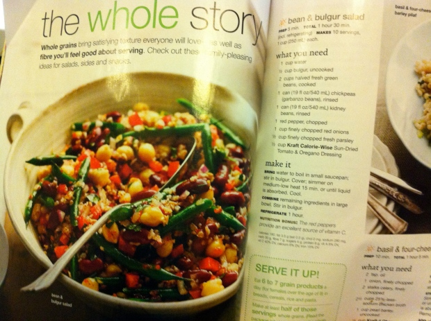 Beans & Bulgar salad, page 35