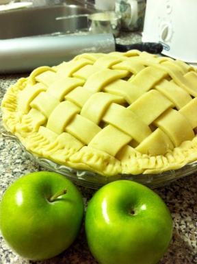 First lattice crust apple pie - from scratch!