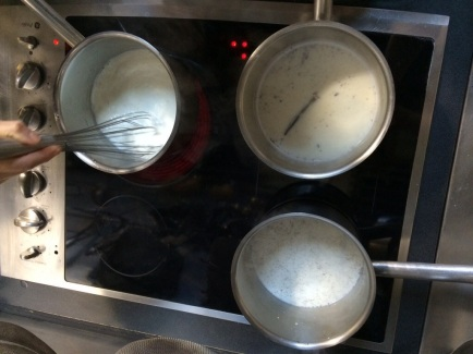 We share ovens and stove tops. #teamwork