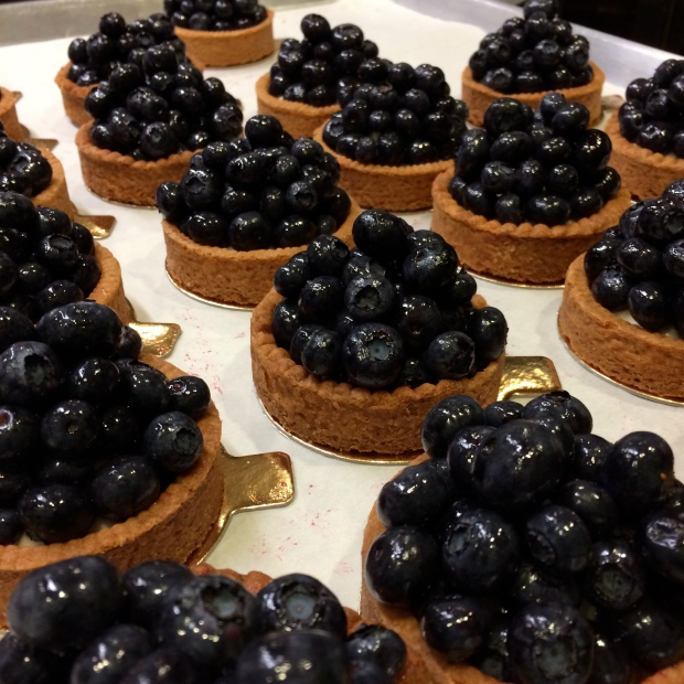 On stage #3 I got to fill these beautiful tarts and stack the blueberries like marbles, delicately. I had to take a photo when I was done.