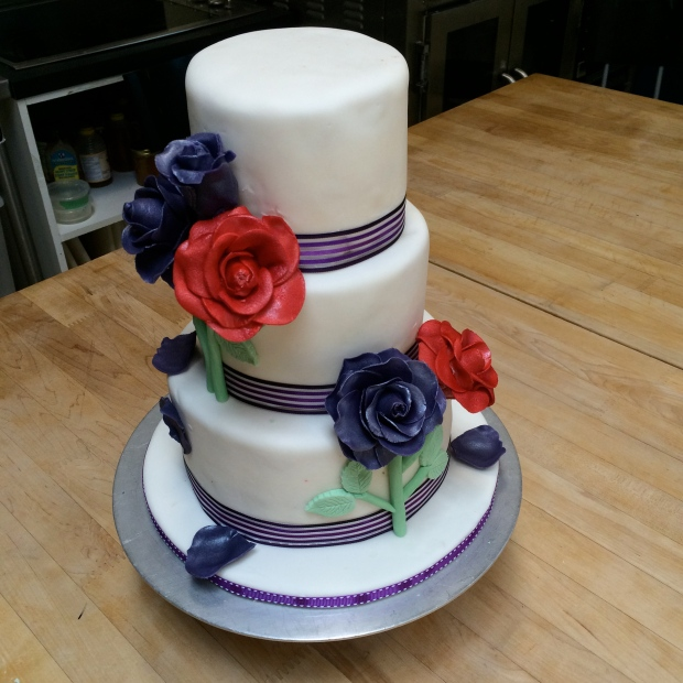 One of the teams made a romantic floral cake. I loved how their flowers turned out.