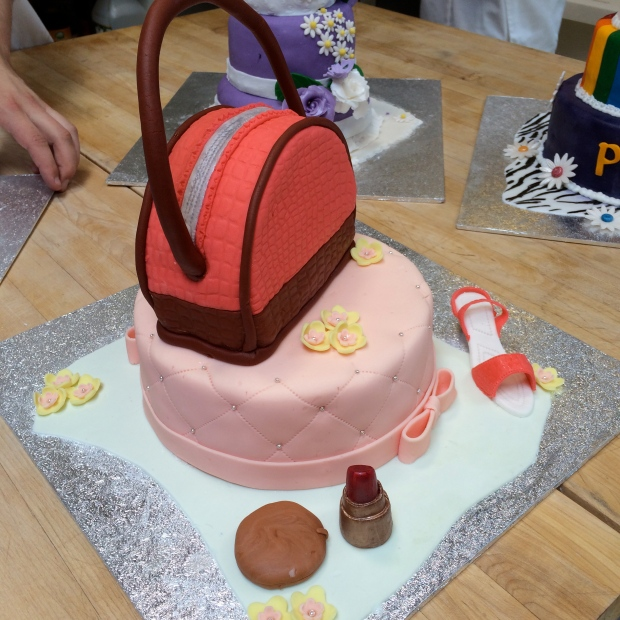 My Chef made this fashion / purse cake.