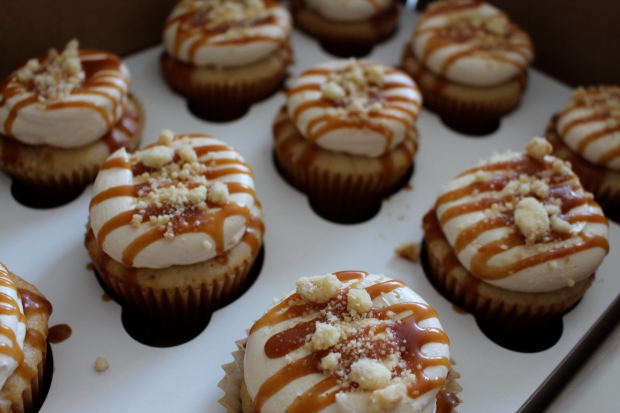Apple Streusel cupcakes