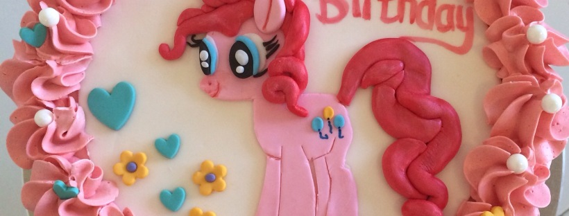 Pinkie Pie, My Little Pony kids birthday cake theme